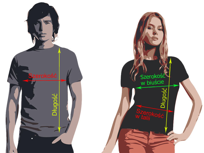 Rozmiarówka koszulek